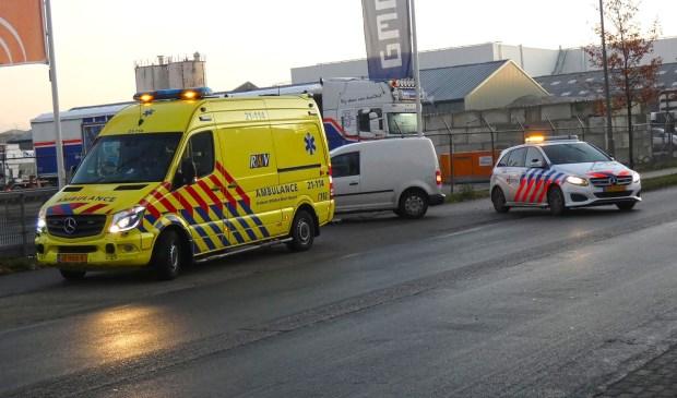 Scooterrijder gewond na ongeval op Kanaalstraat. (Foto: Gabor Heeres, Foto Mallo)  © 112 Brabantnieuws