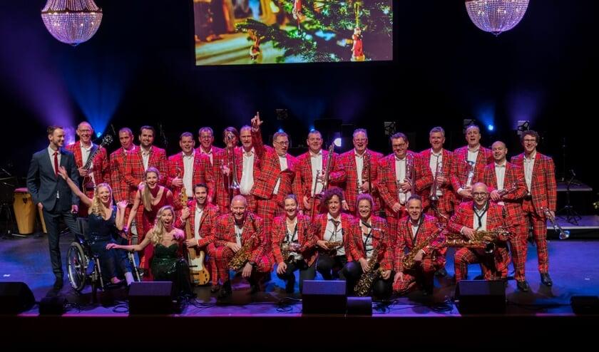 Het kerstconcert van Big Band BBF vorig jaar in theater de Blauwe Kei.