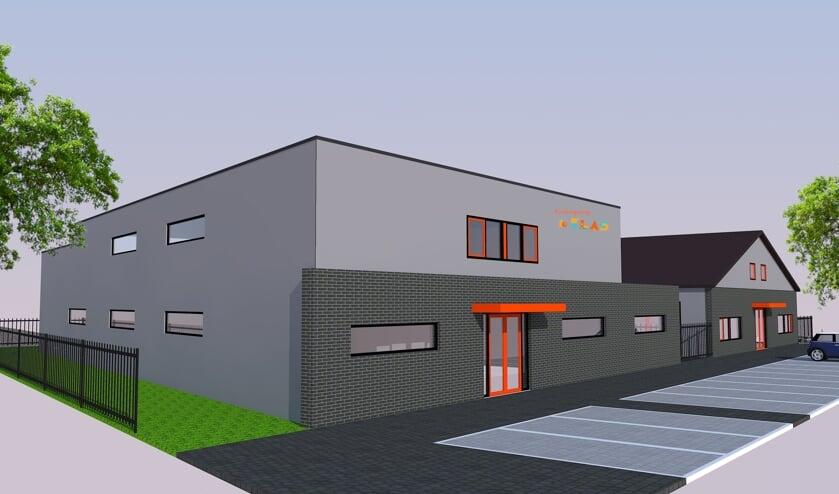 Een impressie van hoe de nieuwe BSO van Kinderopvang Eerste Klas in Cuijk eruit komt te zien.