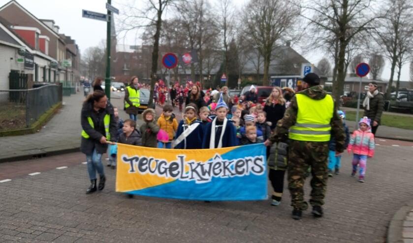 Carnaval bij Basisschool De Teugelaar.