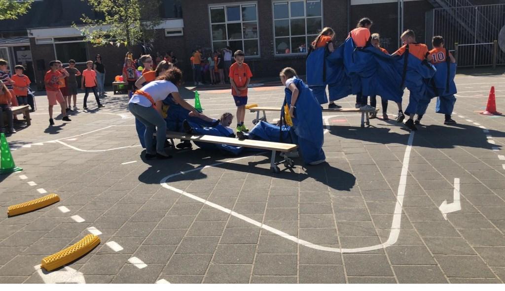 Koningsspelen op Basisschool De Teugelaar.  © Kliknieuws Oss