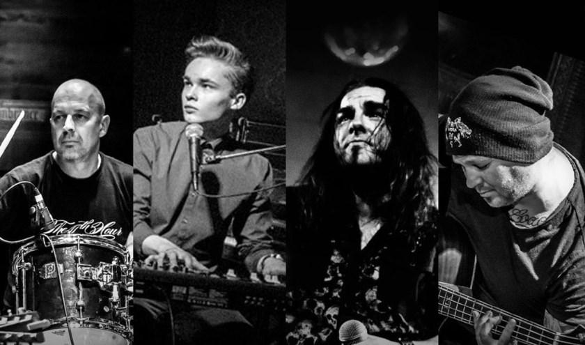 Een aantal leden van de tributeband