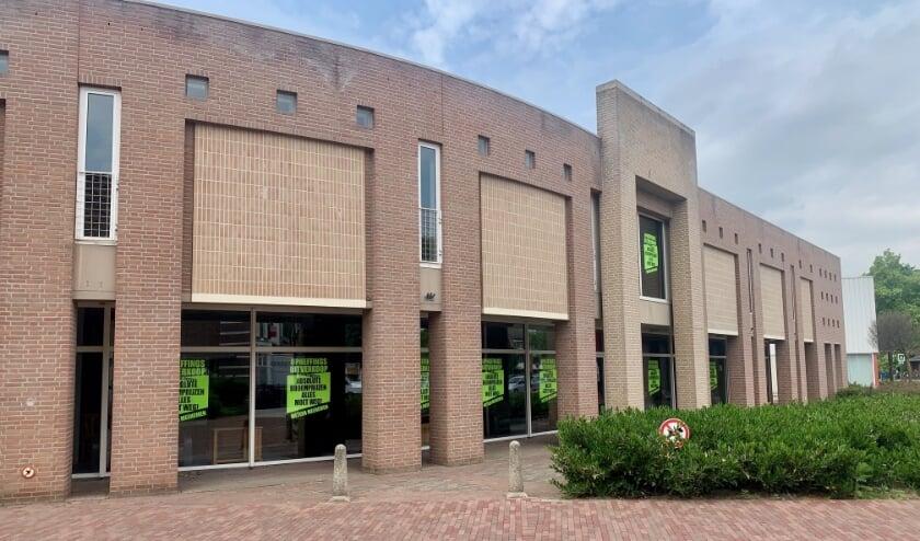 In dit winkelpand aan De Raetsingel in Boxmeer zou Anytime Fitness een sportschool openen.
