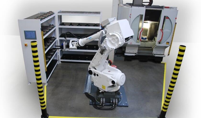 De robot kent een grote payload: hij kan tot 100 kg tillen (verschillende producten)