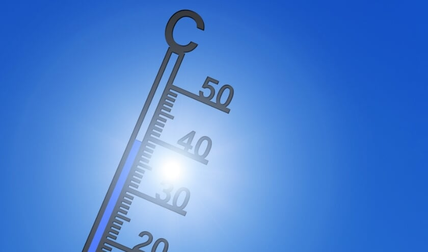 Temperaturen van boven de 30 graden, met uitschieters van rond de 35, kunnen aan de orde zijn.