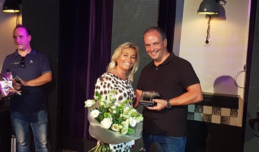 Frank Vale met zijn vrouw.
