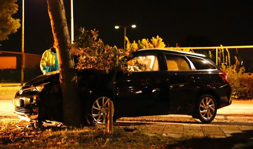 Eenzijdig ongeval op de Beversestraat in Cuijk.