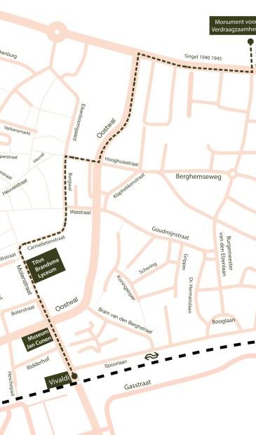 Route van het konvooi.  © Kliknieuws Oss
