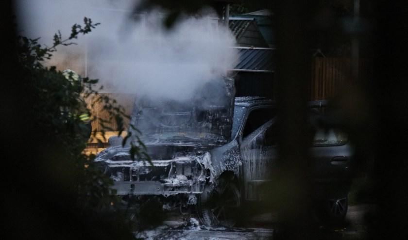 Auto uitgebrand in Sint Anthonis.