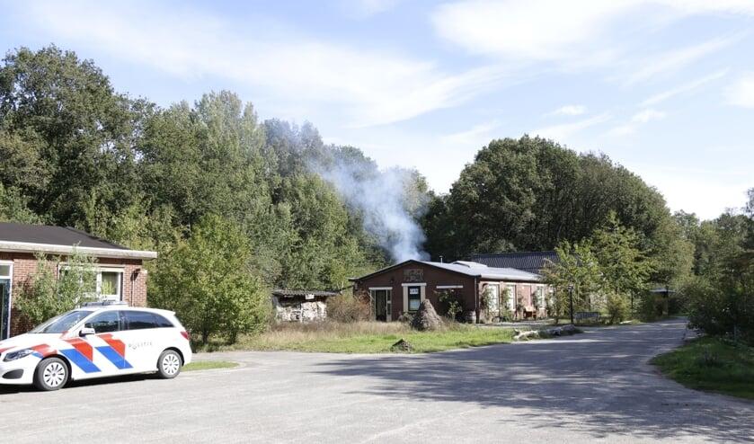 De brandweer in Gennep rukte uit voor een brandje aan de Kampweg.