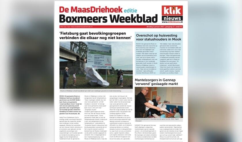 De Maas Driehoek krijgt vanaf 1 oktober twee edities: 'Cuijks Weekblad' en 'Boxmeers Weekblad'. De naam De Maas Driehoek blijft gewoon behouden.