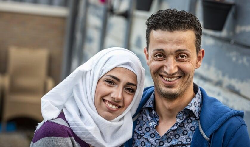 Walaa en Moutaz Al Najjar. (Foto: Thomas Segers)