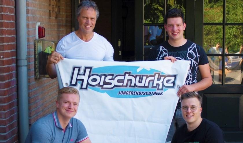 Het bestuur van het Hoischurke: Gert-Jan, Bart, Justin en Daan.