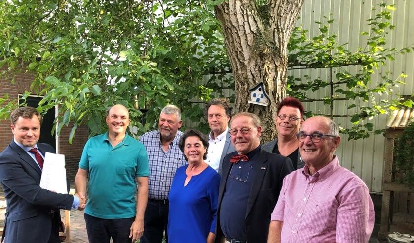 Bram van den Boogaart, Maurice van Hees, Frits Sanders, Marie-José Keurlings, Bernard Vissers, Goof van Nunen, René Hildesheim, Wim van de Louw.