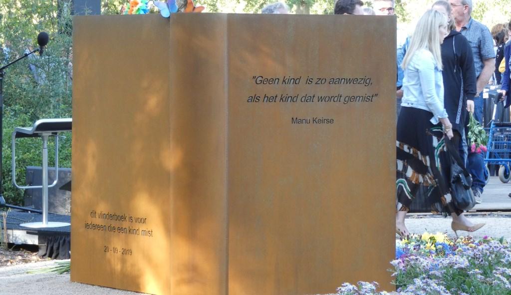 Het monument Vlinderboek. (Foto: Thomas)  © Kliknieuws Oss
