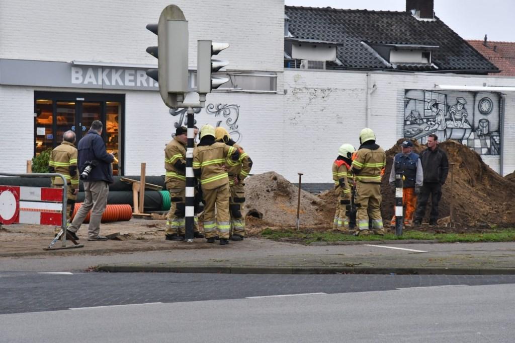 Gaslek in de Braakstraat. (Foto: Thomas)  © 112 Brabantnieuws
