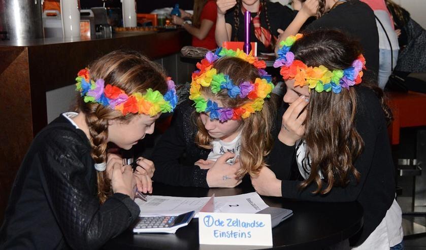 Opperste concentratie tijdens de vorige editie van de Zellandse Jeugd Quiz