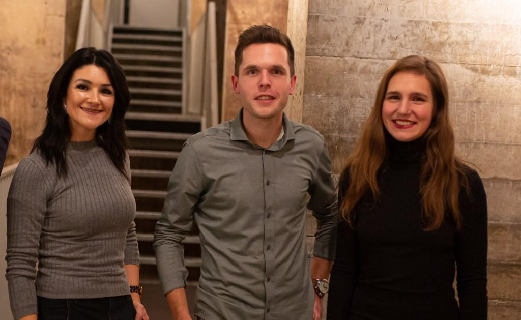 Van links naar rechts: Filiz Kilic (Vurans), Thijs Alofs (GroenBezorgen) en Mariël van den Oever (Kook & Klaar). Cindy Langenhuijsen Fotografie © Kliknieuws Veghel