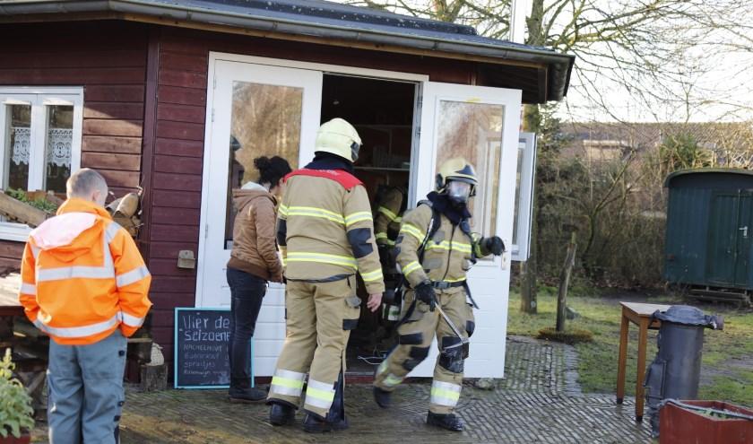 Brandje bij het Theehuisje op Bronlaak in Oploo.