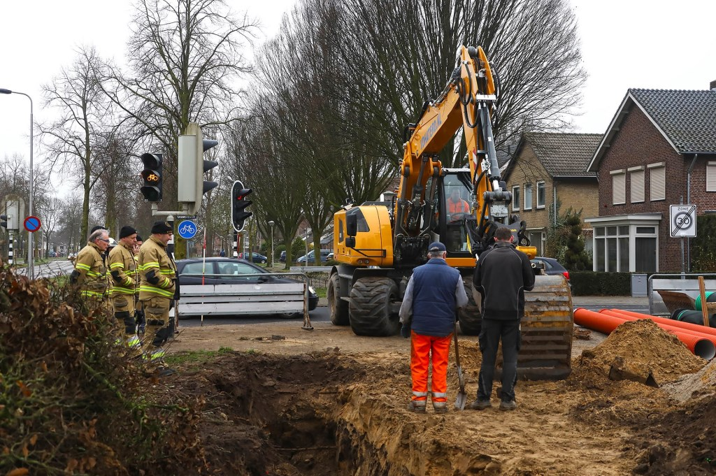 Brandweer opgeroepen voor gaslek in Braakstraat. (Foto: Gabor Heeres, Foto Mallo)  © 112 Brabantnieuws