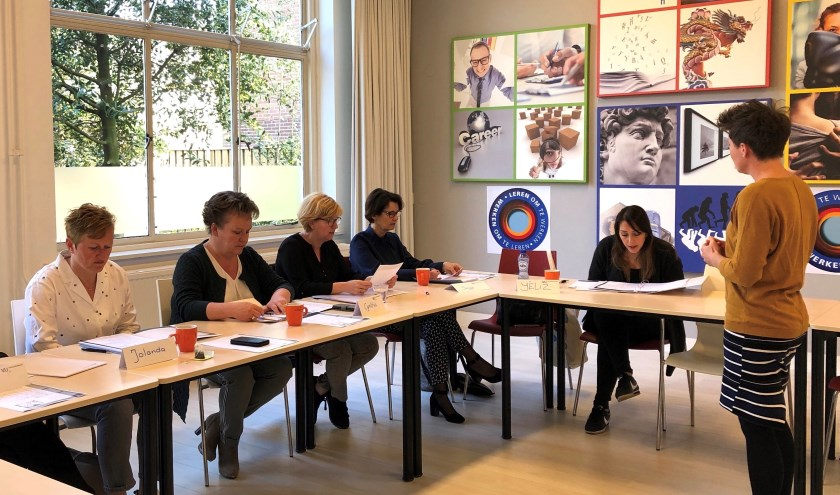 Deelnemers aan een cursus.