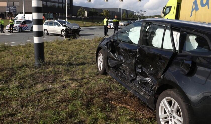 Ongeval bij Vorstengrafdonk. (Foto: Gabor Heeres, Foto Mallo)