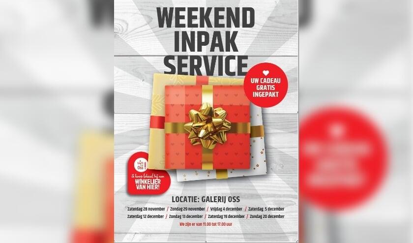 Weekend inpak service.