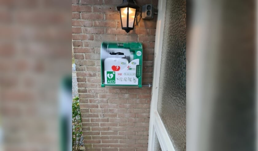 AED geplaatst bij woning Wagenaarstraat