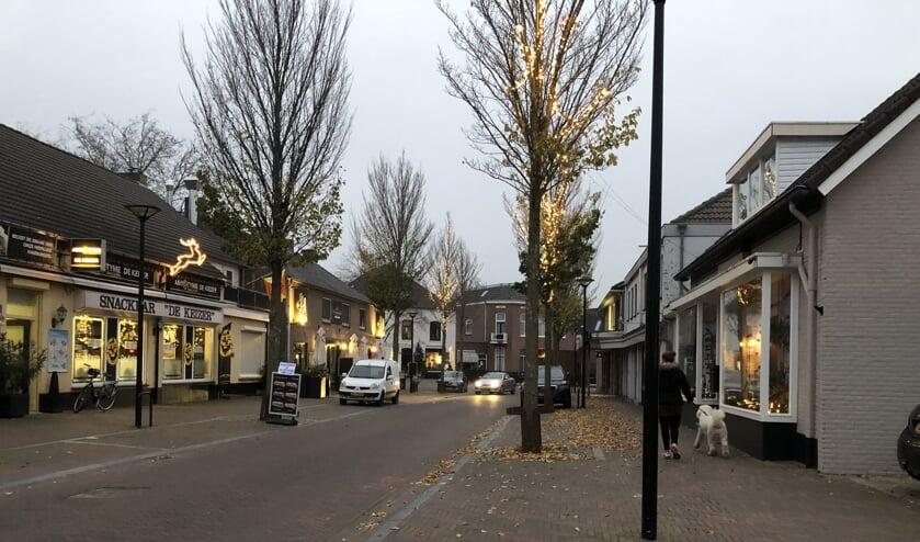 De kerkstraat in Mill.