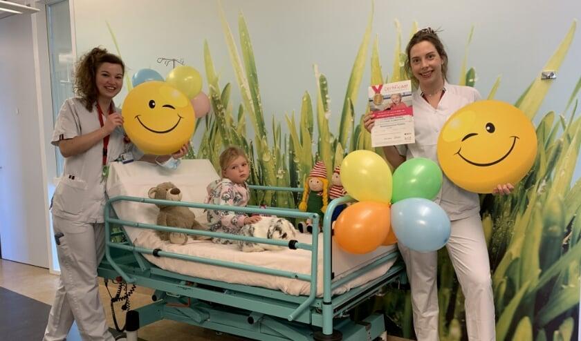 <p>Verpleegkundigen kinderafdeling zijn trots op het behalen van de gouden smiley.</p>