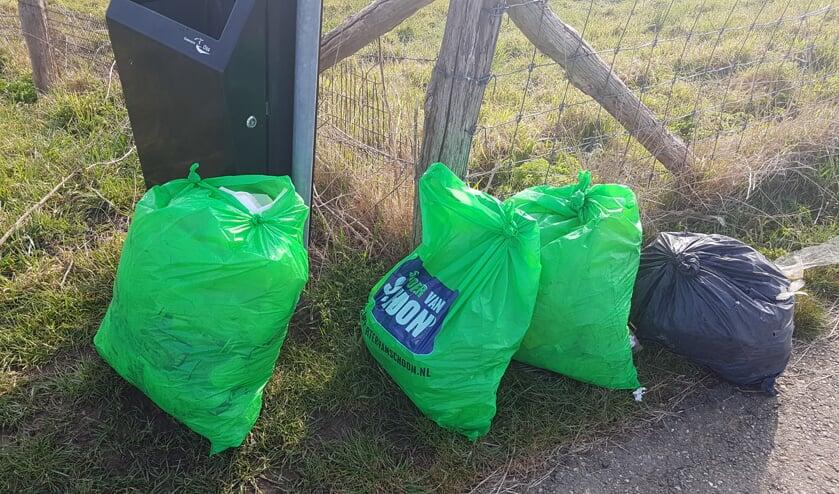 Afval opgehaald tijdens de Landelijke Opschoondag.