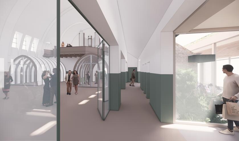 Impressie van hoe de kerk in Langenboom in de toekomst ingericht zal worden.