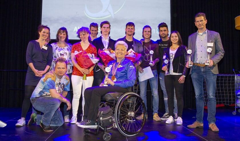 De winnaars van de eerste Sport Awards van Meierijstad (Foto: Ad van de Graaf).