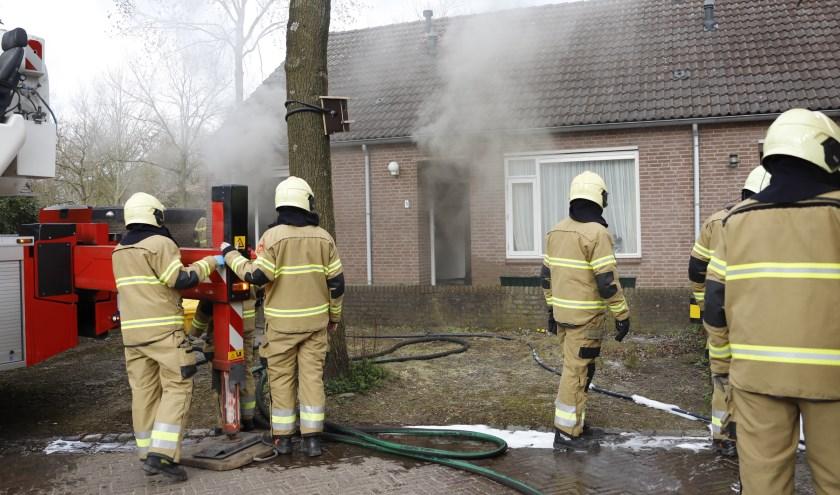 Aan de Wezelhof in Cuijk is er brand ontstaan in een woning.
