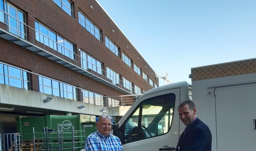 Ruim 750 bakjes Heldro ijs zijn er uitgedeeld onder het personeel van het Maasziekenhuis. (foto: Heldro ijs)