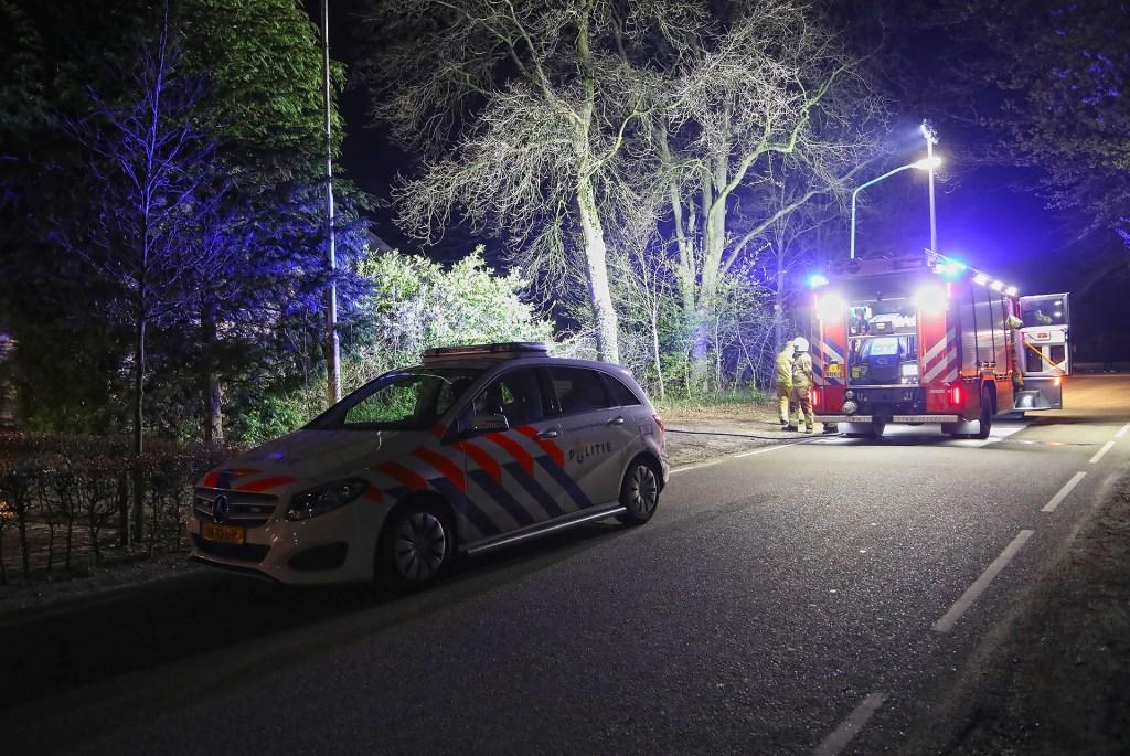 Brand in de Willibrordusweg. (Foto: Gabor Heeres, Foto Mallo)  © Kliknieuws Oss