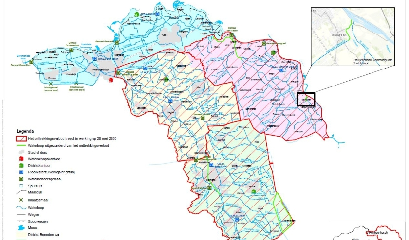 Wel gelden er enkele uitzonderingen op het verbod zoals het benedenstroomse gedeelte van de Sambeekse uitwatering.