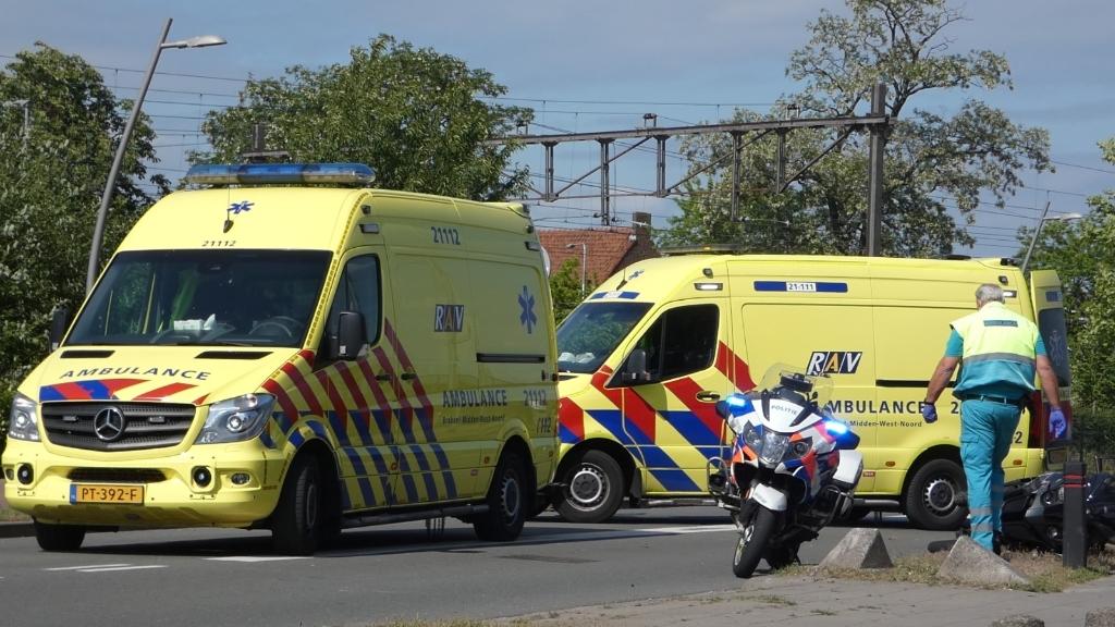 Ongeval op de Gasstraat. (Foto: Thomas)  © Kliknieuws Oss