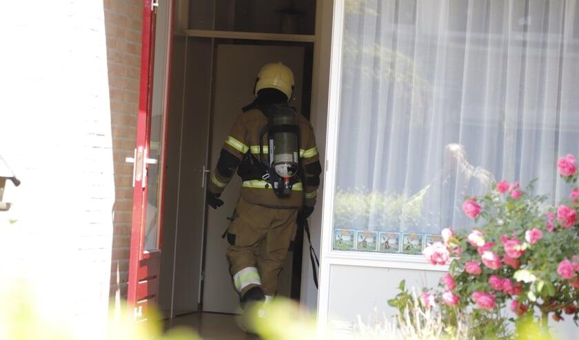 De brandweer van Sint Anthonis was vlot ter plaatse.