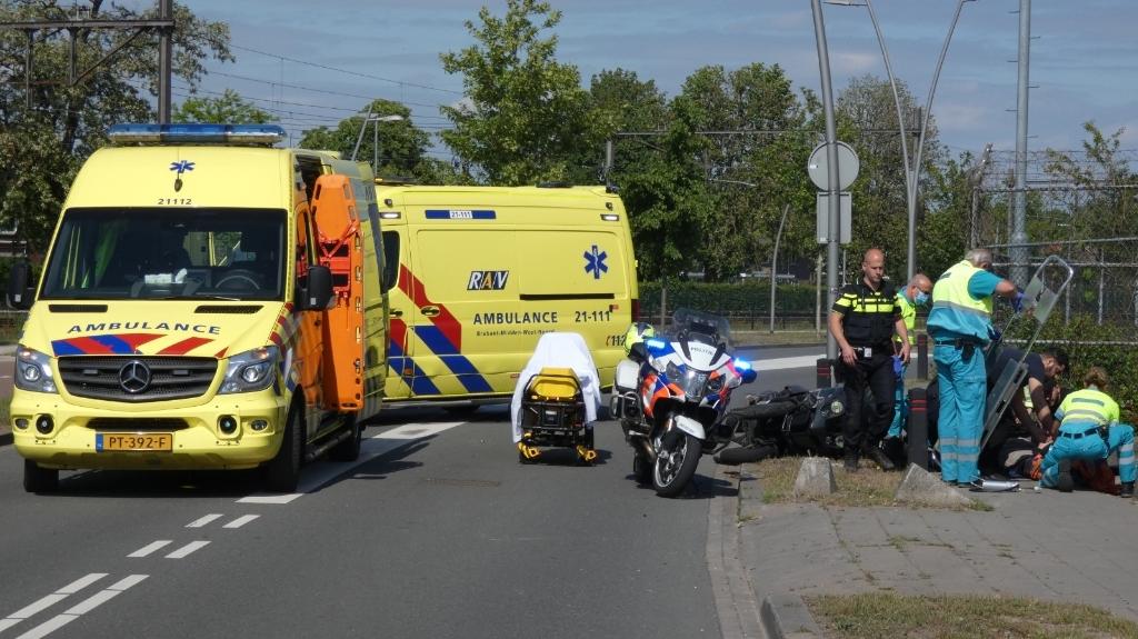 Ongeval op de Gasstraat. (Foto: Thomas) Foto:  © Kliknieuws Oss