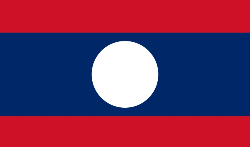 De vlag van Laos