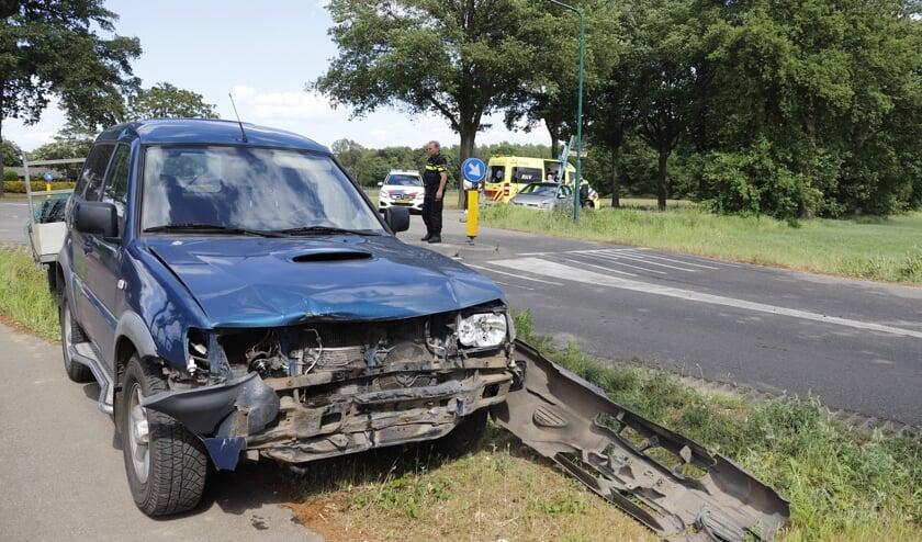Het ongeval vond plaats omdat de ene automobilist de van links komende bestuurder over het hoofd zag.