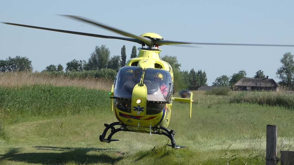 Traumahelikopter. (Foto: Thomas)  © 112 Brabantnieuws