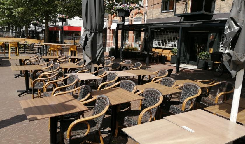 Het terras van Brasserie La Colline in Oss.