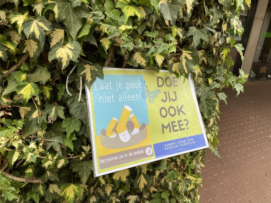 Sigarettenpeuken, peuken, schoon centrum Foto:  © Kliknieuws Veghel