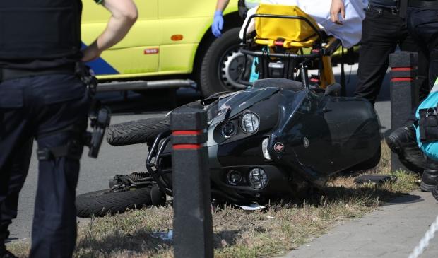 Ongeval op de Gasstraat in Oss. (Foto: Gabor Heeres, Foto Mallo)  © Kliknieuws Oss