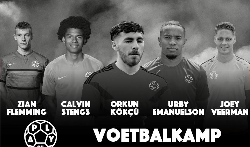 Eredivisievoetballers Orkun Kökcü, Calvin Stengs, Urby Emanuelson, Zian Flemming en Joey Veerman komen naar Cuijk!