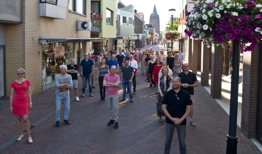Ondernemers van het centrum van Boxmeer. (foto: Eric Kuijpers, Dom Melskens Boxmeer)