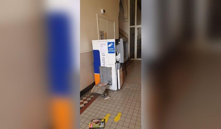 De geldautomaat in Megen.