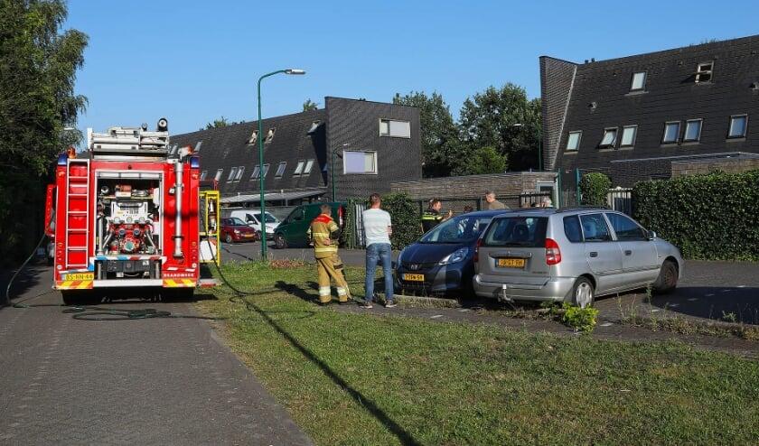 Brand op zolder Roggehof Berghem (foto's Gabor Heeres, Foto Mallo)